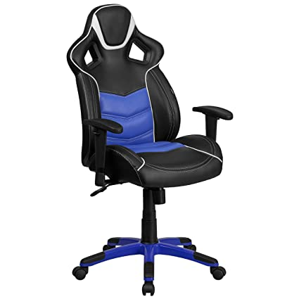 amazon com flash furniture high back monterey blue executive gaming