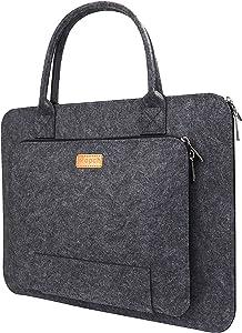 Ropch Felt Laptop Sleeve Case for 13.3 Inch Apple MacBook Pro/Pro Retina 2015/2016 Protective Carrying Handbag Cover - Dark Gray