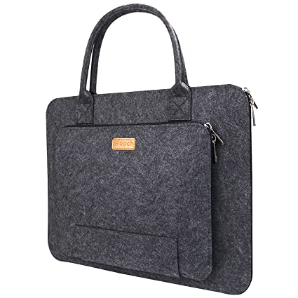 a0116f8857fa Ropch 15.6 Inch Felt Laptop Bag, Laptop Sleeve with Handle Notebook  Computer Case Carrying Bag Briefcase Compatible with 15 15.6