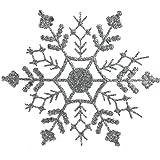 "Club Pack of 24 Silver Splendor Glitter Snowflake Christmas Ornaments 3""75"