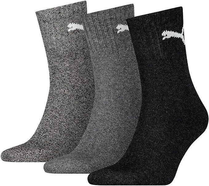 12 pair Puma Sport Socken Short Crew Tennis Socks Gr. 35 49 Unisex, Socken & Strümpfe:43 46, Farben:207 anthracite grey