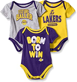 cfe5fe1d239 Amazon.com   Los Angeles LA Lakers 3pc Creeper Set GIRLS Team Colors ...