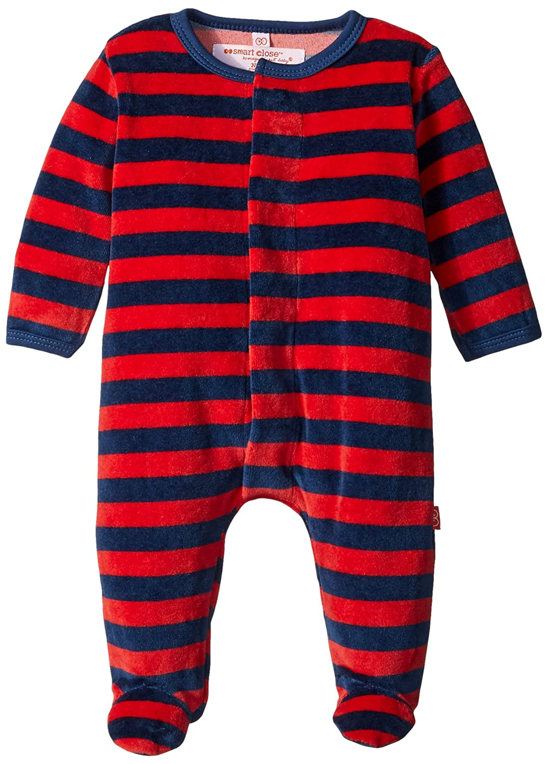 Magnetic Me Velour Magnetic Footie Magnificent Baby Baby 8004-B