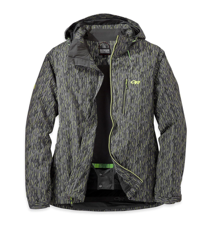 Outdoor Research Men's Igneo Jacket, Pewter/Lemongrass Print, X-Large