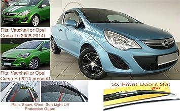 und Corsa E oder Corsa Van 3-T/ürer Schr/ägheck dunkel get/öntes Premium Qualit/ät Acrylglas 2x Windabweiser kompatibel mit Opel Corsa D 2006-2014 2014-Heute