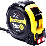 Measuring Tape Measure By Kutir - EASY TO READ 25 Foot BOTH SIDE DUAL RULER, Retractable, STURDY, Heavy Duty, MAGNETIC HOOK,