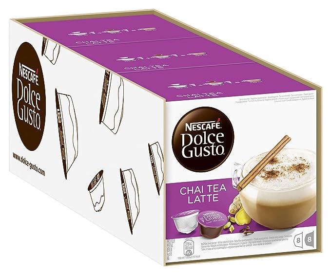 Nescafé Dolce Gusto Chai Tea Latte, 3 Pack (48 Cápsulas): Amazon.es: Alimentación y bebidas