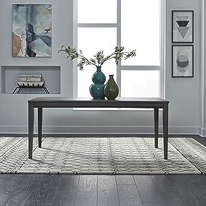 Liberty Furniture Industries Tanners Creek Rectangular Leg Table, W36 x D72 x H30, Medium Gray
