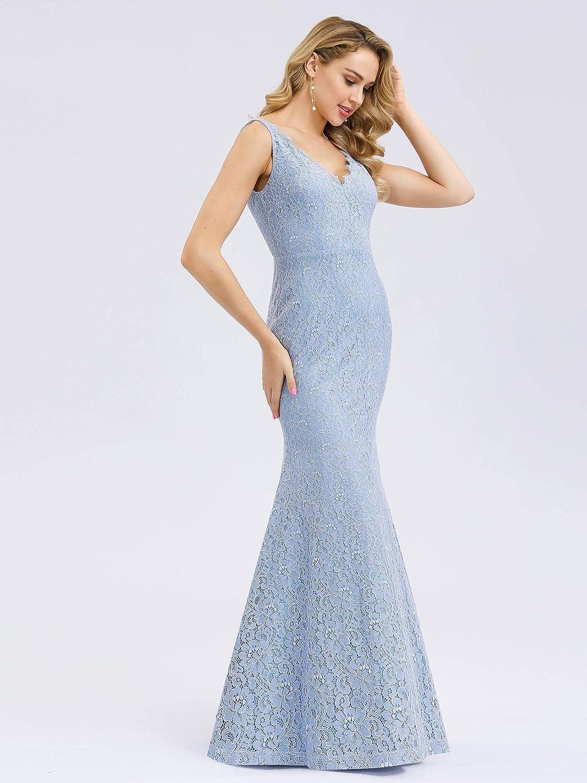 Ever-Pretty Robe de Soir/ée Demoiselle dhonneur Sir/ène en Dentelle Col en V /Él/égante Femme 00998