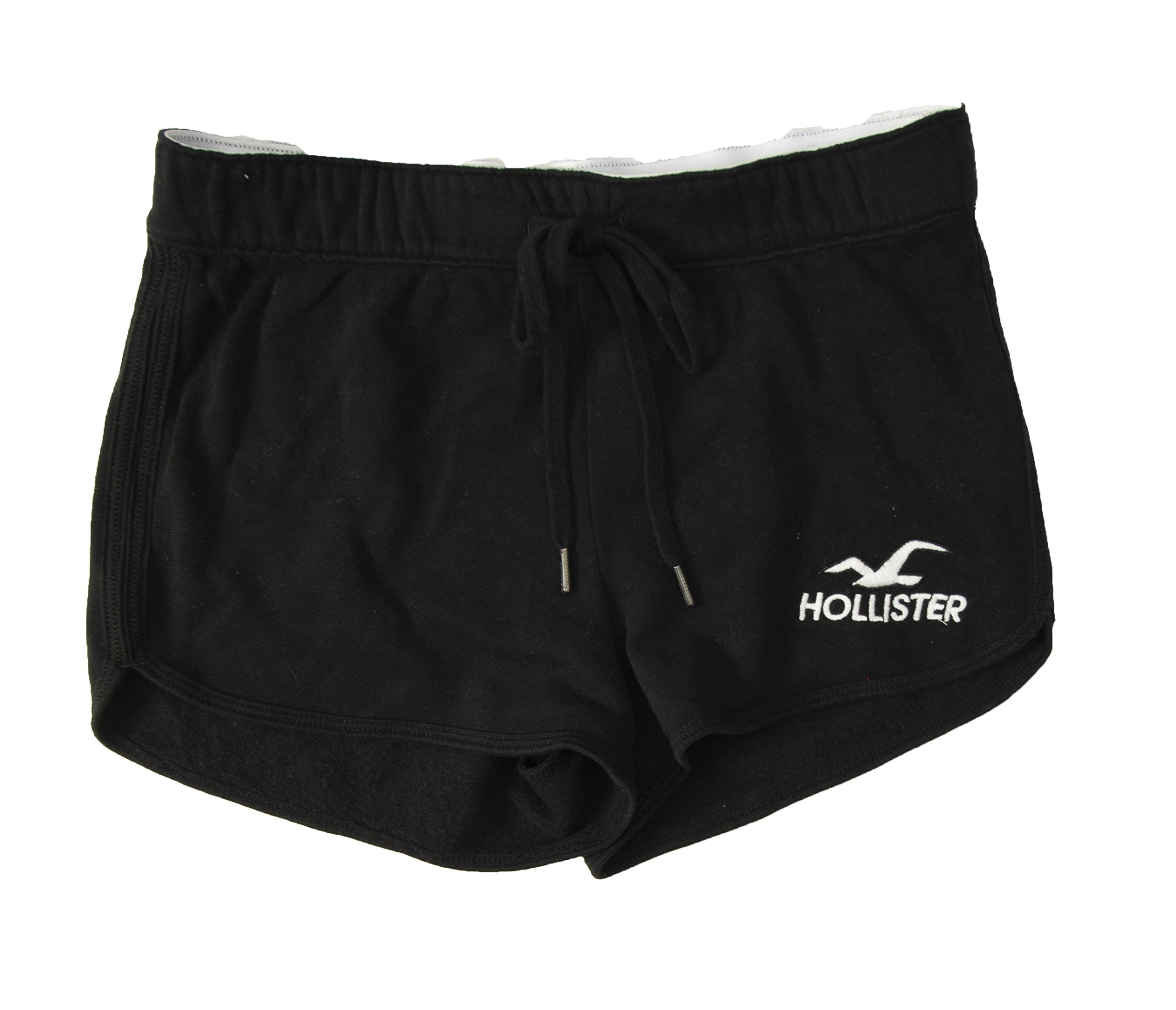 Hollister Women's Curved Hem Terry Shorts (S, Black 18)