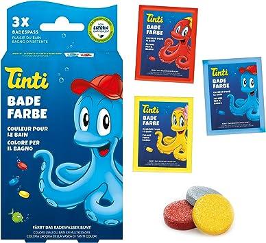tinti de baño agua color 3 Pack (1 x Azul, 1 x amarillo, 1 x Rojo): Amazon.es: Salud y cuidado personal