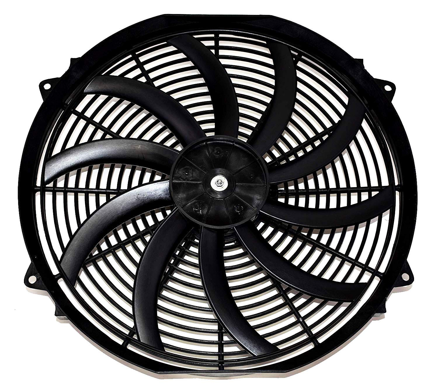 A-Team Performance 140041 16'' Heavy Duty 12V Radiator Electric Wide Curved S Blade FAN & Thermostat Kit, 3000 CFM Reversible Push or Pull with Mounting Kit by A-Team Performance (Image #3)