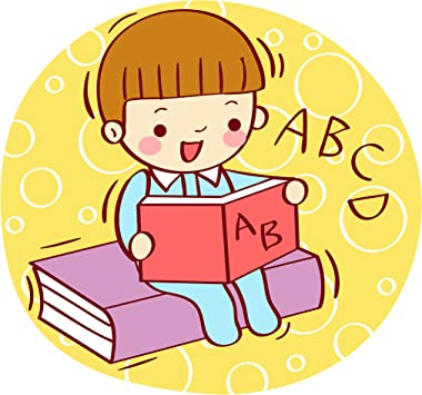 I LOVE READING Sticker Books Learn Library Icon Cute School Vinyl Decal Children