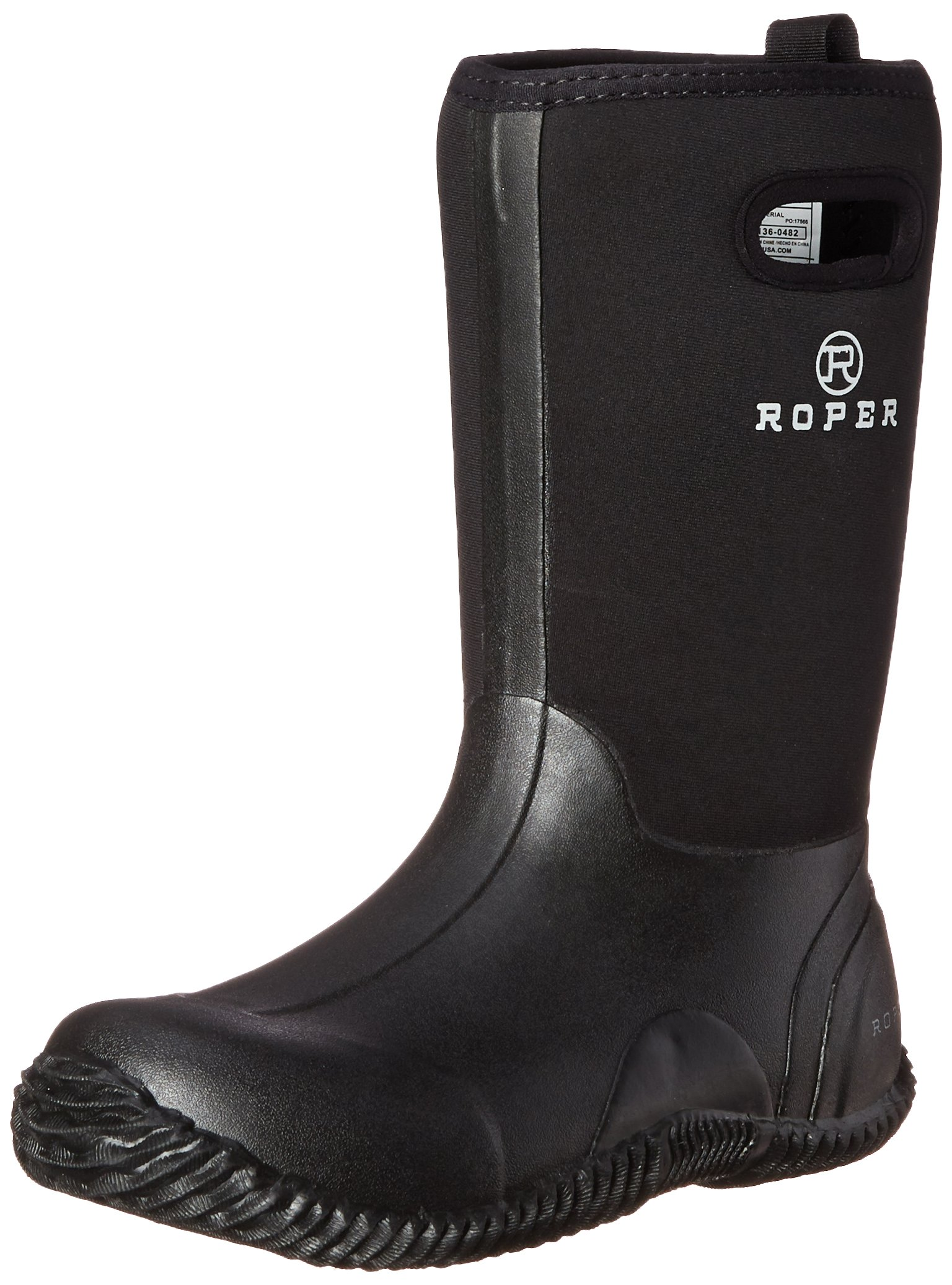 Roper Barnyard Rubber Barn Yard Chore Boot (Toddler/Little Kid/Big Kid), Black, 7 M US Big Kid