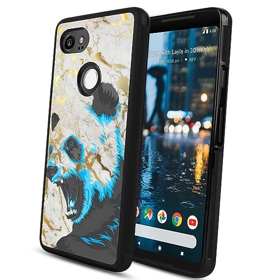 best website e8e22 69705 Amazon.com: Panda GOOGLE Pixel 2 XL Phone Case, Shockproof Soft TPU ...