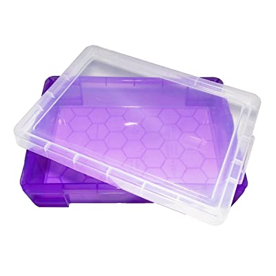 PlayTherapySupply Small Portable Sand Tray with Lid - Purple: Toys & Games