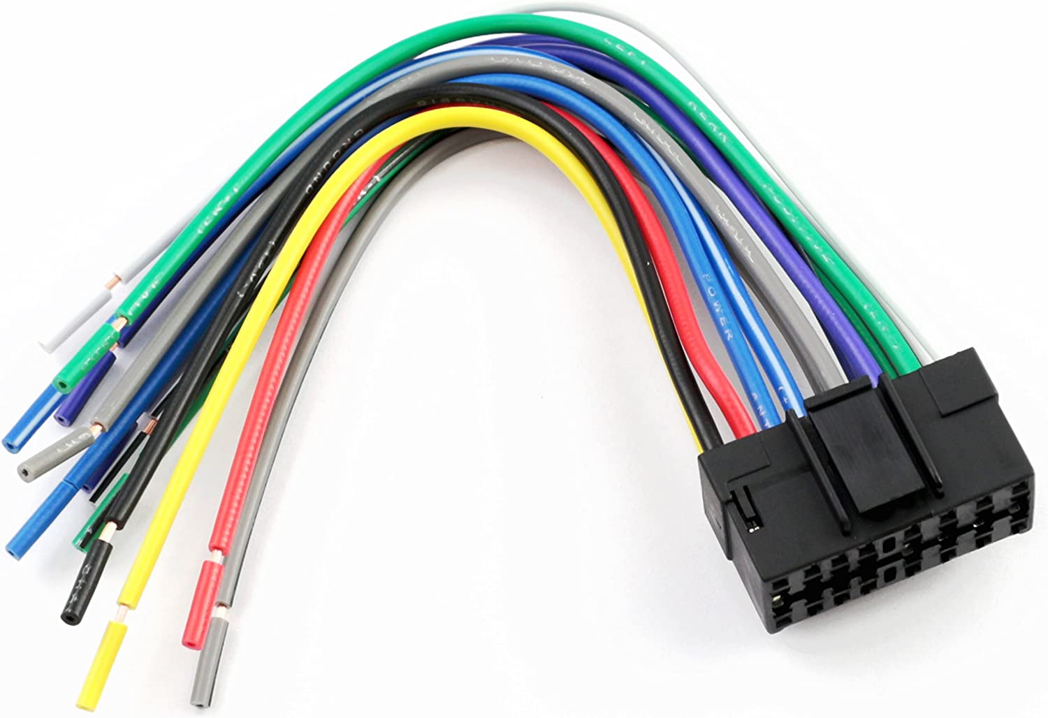 [TBQL_4184]  Amazon.com: XScorpion SY16000 Universal 16-Pin Wiring Harness with  Aftermarket Stereo Plugs for Sony | 16 Pin Wiring Harness |  | Amazon.com