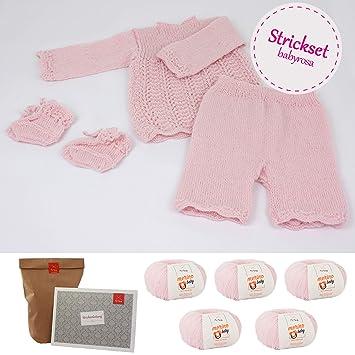Myoma Strickset Für Babys Diy Babyensemble Rosa Baby Stricken