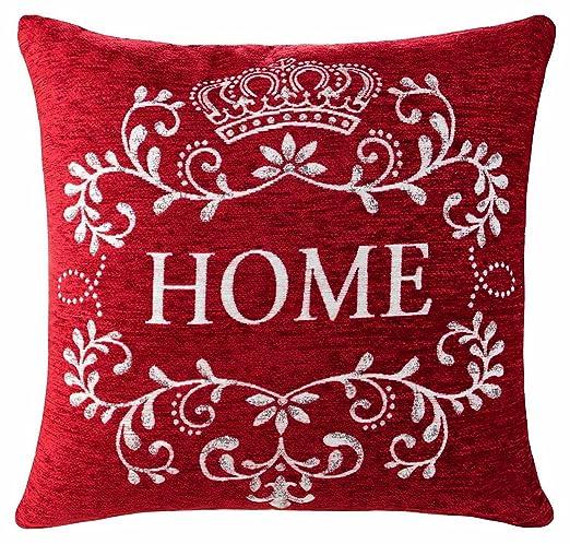Home Sweet Home 45,72 cm para cojín rojo y gris: Amazon.es ...