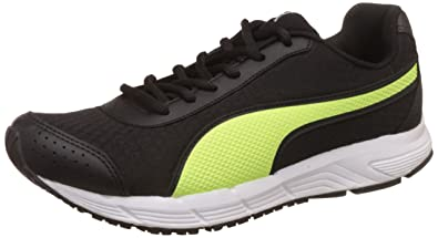 Puma Men's Rapple Black and Safety Yellow Running Shoes - 10 UK/India (44.5