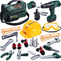 Toyssa Kids Tool Set 32 pcs Tools for Kids Construction Tools Set Kids Tool Kit for Toddlers Boys Age 3 4 5 6 7 Years…