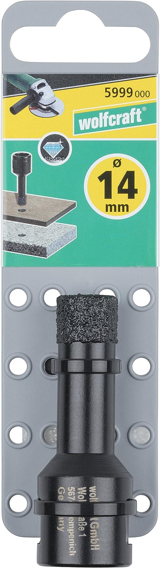 Wolfcraft 5999000 Diamant Foret Ceramic ø 14 Mm Filetage M 14 Profondeur De Coupe 35 Mm 1 V