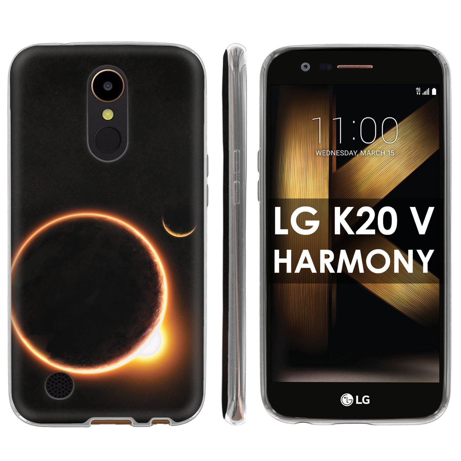 LG [K20 V/ K20 plus] LG Harmony Soft Mold [Mobiflare] [Clear] Thin Gel Protect Cover - [Solar Eclipse] for LG [K20 V/ K20 plus/ Harmony] [5.3 '' Screen]