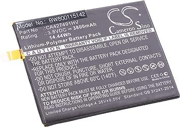 vhbw Litio polímero batería 3800mAh (3.8V) para móvil Smartphone teléfono como BQ CA427491HV: Amazon.es: Electrónica