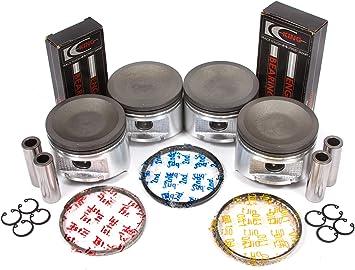 4 Pistons and Ring Fits 93 94 95 96 97 Nissan Altima 2.4L DOHC L4 16V KA24DE