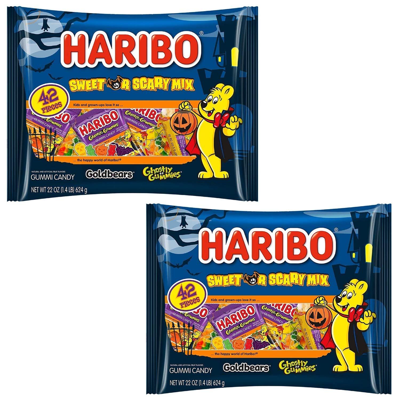 Haribo Sweet or Scary Mix, Halloween Gummi Candy, 22.7 Oz. (2) by Haribo