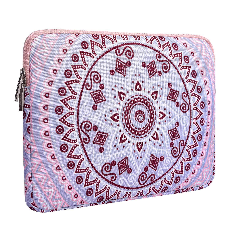 Blu e Rosa Notebook Computer MOSISO Custodia Borsa Compatibile 15-15,6 Pollici MacBook PRO Canvas Tessuto Mandala Modello Protettivo Custodia Laptop Manica Copertina con Piccolo Caso