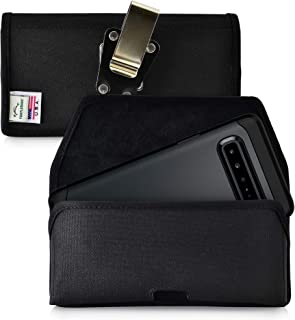 product image for Turtleback Belt Clip Case Designed for Samsung Galaxy S10 5G (2019) Belt Holster Black Nylon Pouch with Heavy Duty Rotating Belt Clip, Horizontal Made in USA