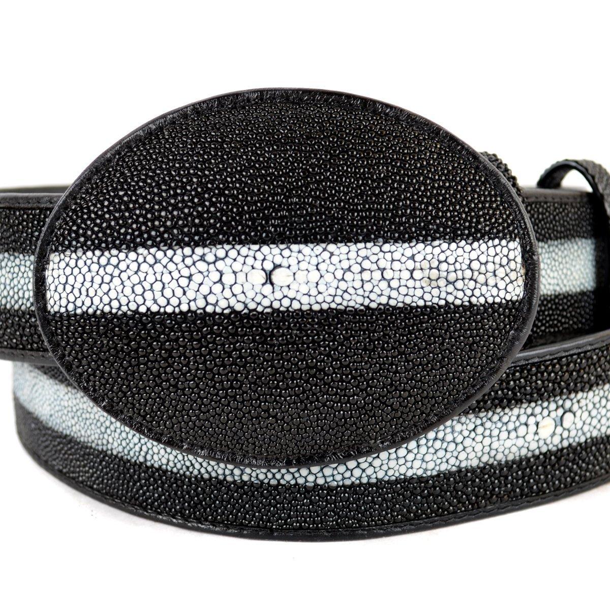 Original Black Rowstone Finish StingRay Skin Western Style Belt
