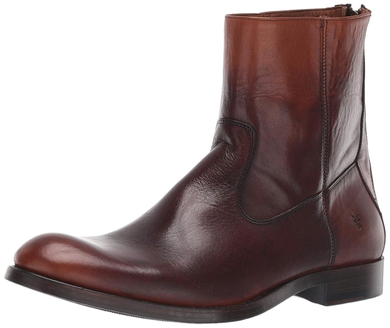 Cognac FRYE Men's Jacob Back Zip Boot