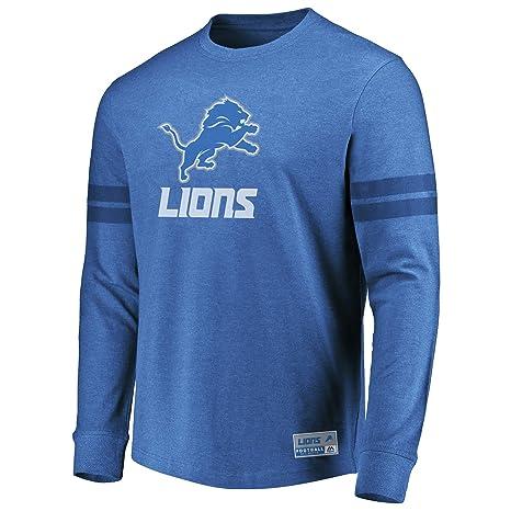 75a5f5dd4af8e Amazon.com : VF Detroit Lions Men's Majestic Flex Double Stripe Long ...
