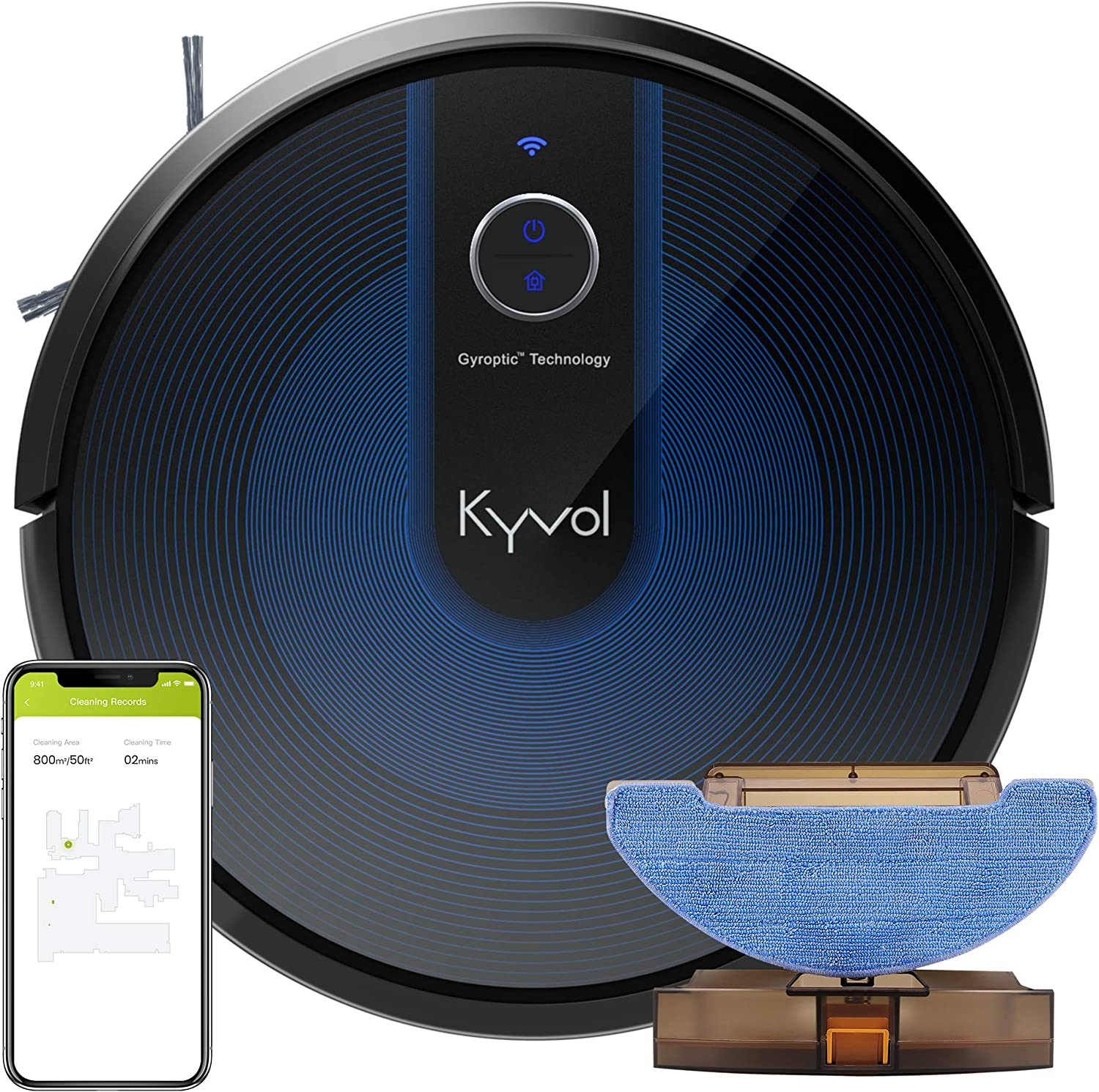 Kyvol Cybovac E31 Sweeping & Mopping Robot Vacuum Cleaner with 2200Pa Suction