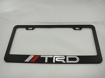 toyota trd black license plate frame