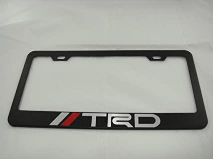 Amazon.com: Toyota TRD Black License Plate Frame: Automotive