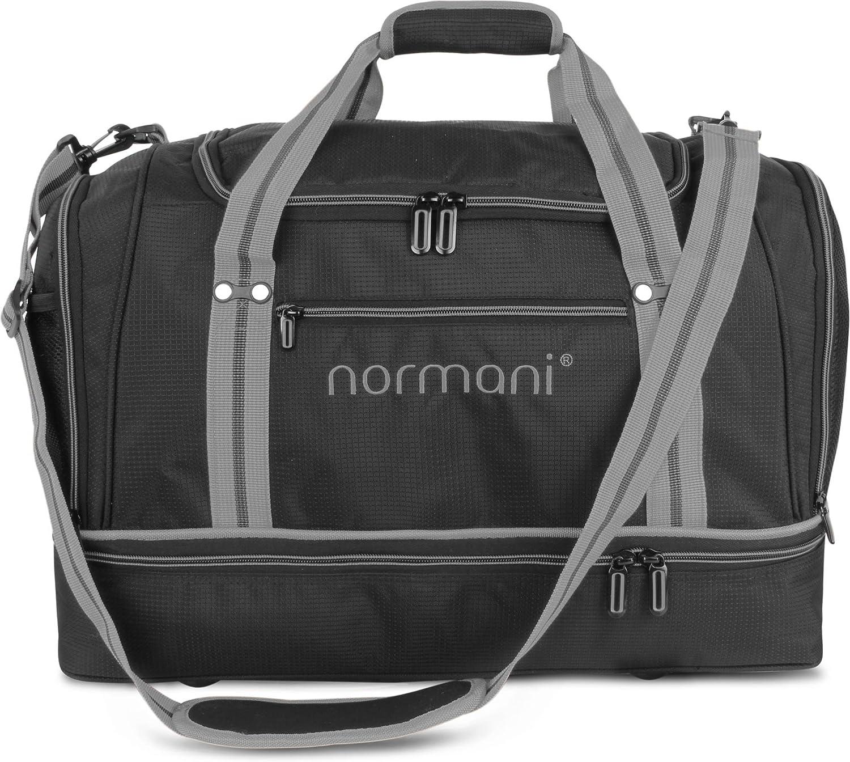 Fitnesstasche normani Sporttasche 58 Liter 55 cm x 30 cm x 36 cm Reisetasche mit gro/ßem Schuhfach und Nassfach f/ür Damen und Herren