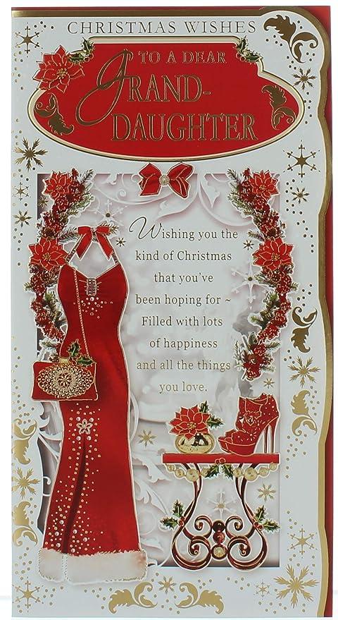 Cards Galore Online Tarjeta de Navidad para Nieta, diseño de ...