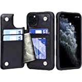 Migeec iPhone 11 Pro Max Case with Card Holder - Wallet Case [Shockproof] with PU Leather Card Pockets Flip Cover for…