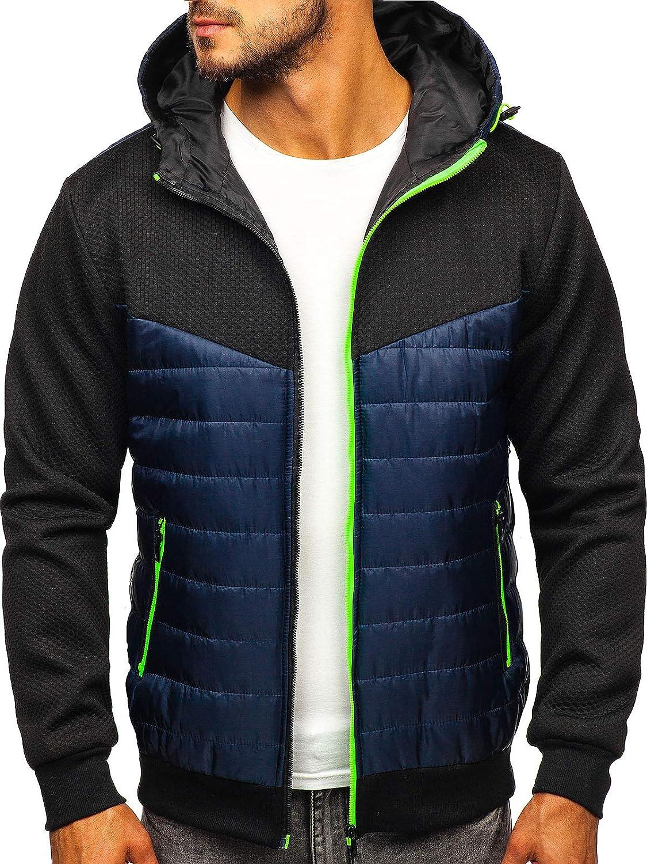 Giacca Felpa con cappuccio da uomo Eto leggera in 3 Colori Con Cerniera Cappotto S-XXL
