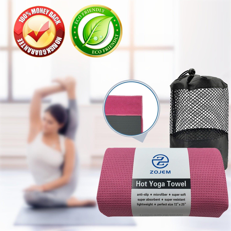 NUEVA EDICIÓN - ZOJEM Toalla de Yoga Microfibra Yoga Towel ...