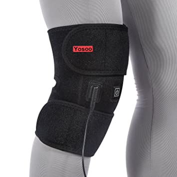 a632b55756 Heated Pad Heat Therapy Knee Wrap Brace Thermotherapy Heating Pad with  Pocket for Cold Compress Knee