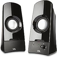 Cyber Acoustics CA-2050 3W Negro Bocina - Bocinas (Mesa/estante, PC, Titanio, Giratorio, Negro, Alámbrico)