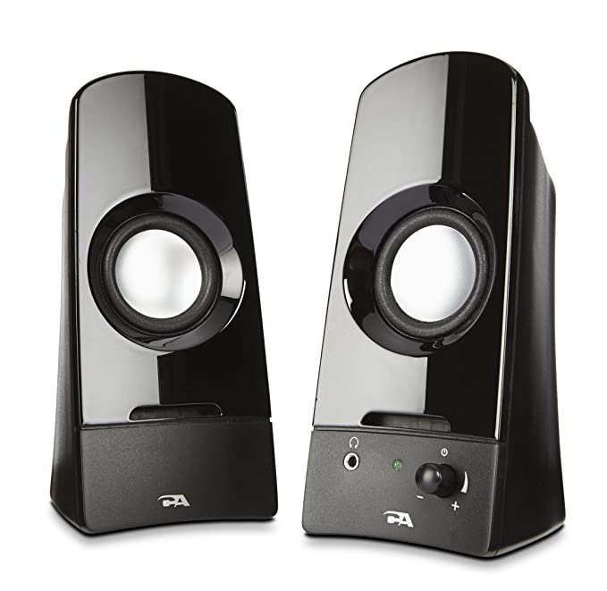 Review Computer speakers, a powerful 2.0 desktop speaker system from Cyber Acoustics (CA-2050)