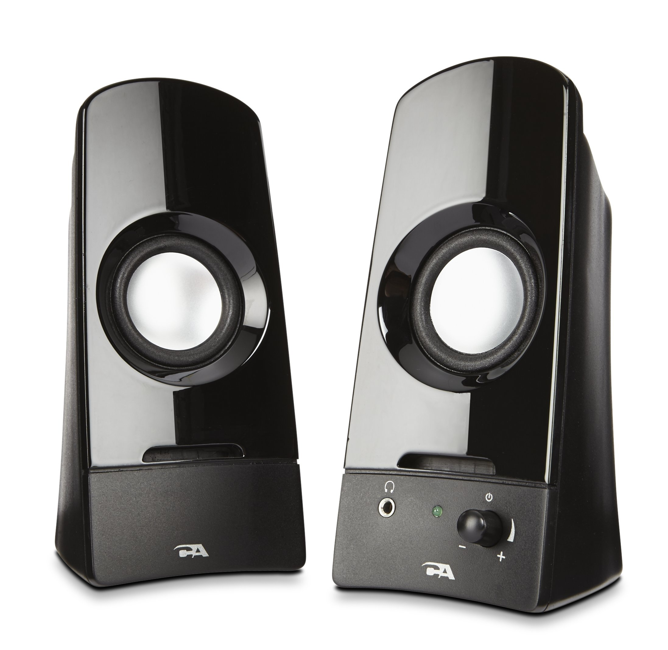 Computer speakers, a powerful 2.0 desktop speaker system from Cyber Acoustics  (CA-2050)