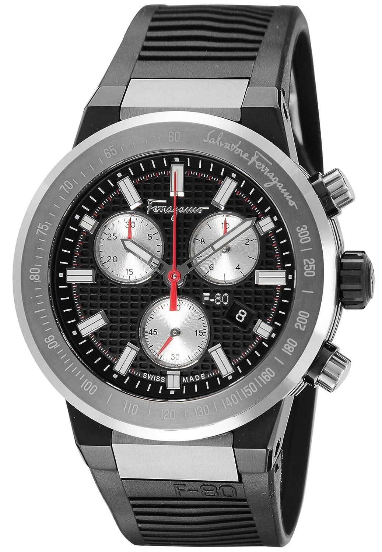 [サルヴァトーレフェラガモ]Salvatore Ferragamo 腕時計 F-80 ブラック文字盤 F55010014 メンズ 【並行輸入品】 B0771GDTDN