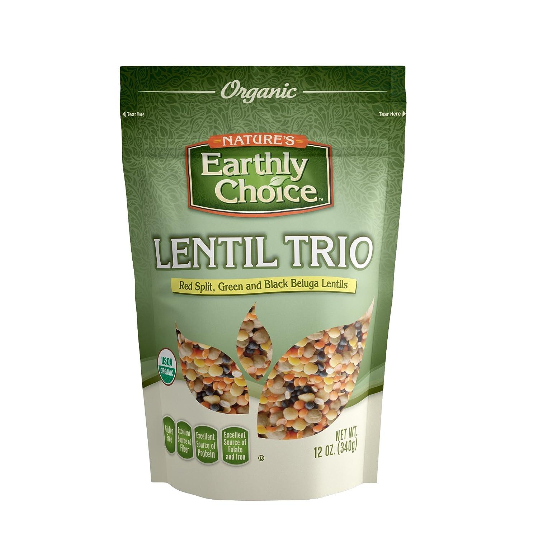 Nature's Earthly Choice Organic Lentil Trio, 12 Ounce
