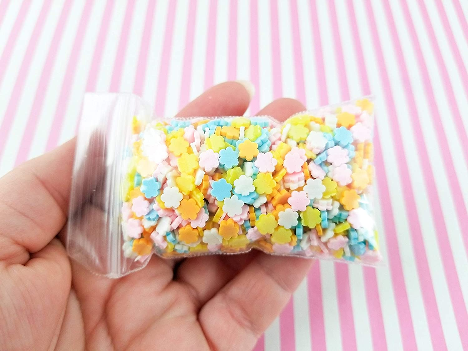 Affordable Decoden Funfetti Pastel Rainbow Polymer Clay Round Confetti Sprinkles Fake Free Shipping Eligible Slime Supplies #02